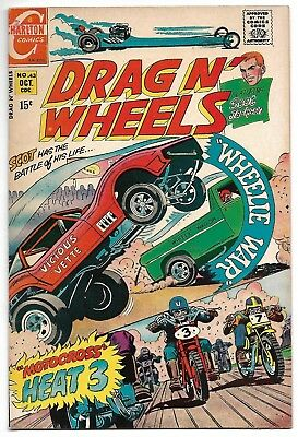 Drag N' Wheels #43 (Charlton, 1970) – Scot Jackson – Auto Racing – VF