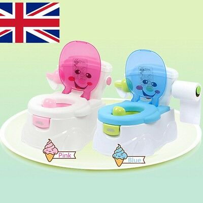 UK STOCK 2 in 1 Baby Toddler Toilet Trainer Safety Green Potty Training Seat Fun