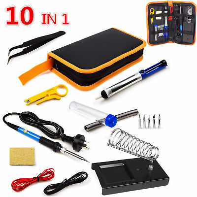 Electric Soldering Iron Kit 60W 110V Adjustable Temperature Welding Iron Tip
