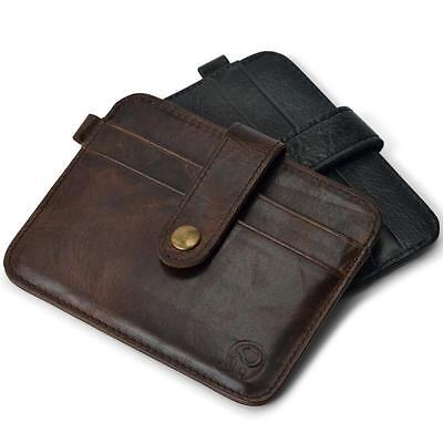 Lively Men Leather Slim Credit Card Holder Mini Wallet ID Case Purse Bag Pouch