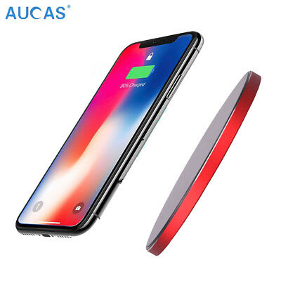 Aucas Qi Wireless Charger Fast Charging Pad For  Samsung Galaxy S9/ S9+/ Note 9