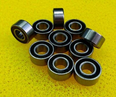 MR83-2RS 10 PCS Metal Rubber Sealed Ball Bearings MR83RS 3*8*3 3x8x3 mm