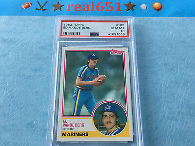 1983 Topps #183 ED VANDE BERG | Seattle Mariners Pop 21 Perfect PSA 10 Gem Mint