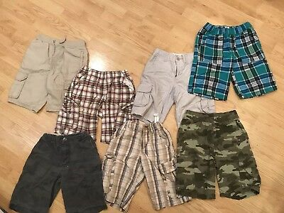 Boys Shorts Size 8 Lot Of 7 Pair