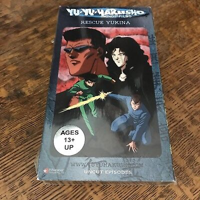 sealed YU YU YAKUSHO - RESCUE YUKINA (1992) VHS 2002 ANIME manga EPISODES