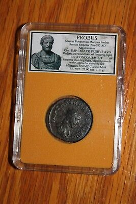 Ancient Roman Empire Coin PROBUS / Emperor shaking hands with Concordia
