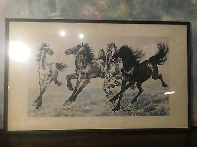 Chinese Drawing 马到成功 Framed