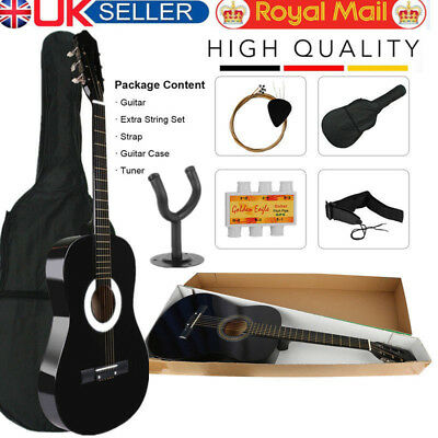 """6 Strings Acoustic Classic Guitar 3/4 Size 39"""" Musical Instruments With Case UK"""