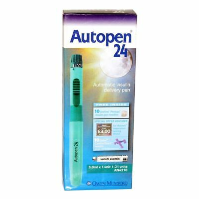 Autopen 24 3.0ml 1 unit Insulin Pen (1-21 units) VAT FREE
