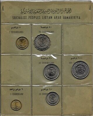 Libyen Libya  Mint- Set (6 Stck.) 1975  UNC  in org. Blister