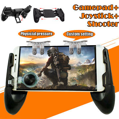 Mobile Gaming Smartphone Gamepad Controller Trigger Fire Button Handle For PUBG