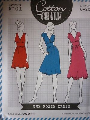 New Cotton & Chalk Rosie Dress Sewing Dressmaking Pattern