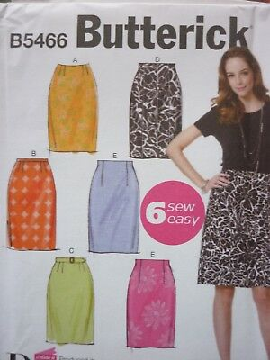 New Butterick 6 Easy Skirts Sewing Dressmaking Pattern