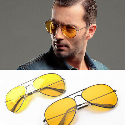 Men Night Vision Sun Glasses Yellow Driving View Unisex Sunglasses Uv400