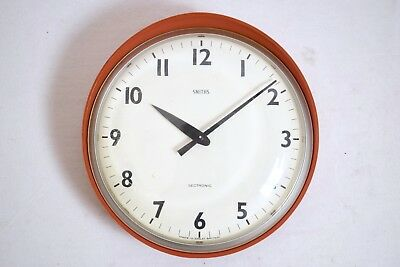 VINTAGE 1960s SMITHS SECTRONIC ELECTRONIC MID CENTURY WALL CLOCK