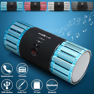 Mini Bluetooth Speaker USB Led Light Wireless Portable Music Box Subwoofer Small