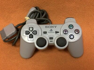 Official Sony PlayStation 1 PSOne PS1 Gray SCPH-1200 Analog Controller-- Works!