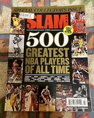 SLAM MAGAZINE*Basketball*500 Greatest NBA PLAYERS*SPECIAL COLLECTORS ISSUE