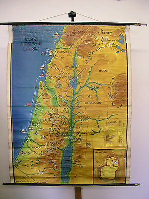 Schulwandkarte Wall Map School Map Map Holy Holy Country Bible 122x159cm
