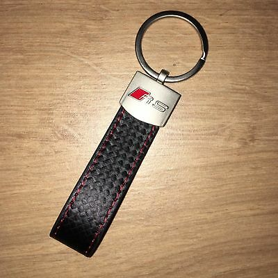 NEW 2018 Audi RS Carbon Keyring / Keyfob RS3 RS4 RS5 RS6 RS7