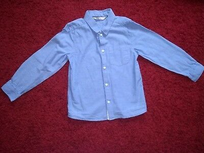 Boys H&M Blue Formal Long Sleeve Shirt Size 7-8 years