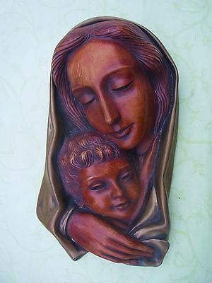 50´s Achatit Wandmaske Mutter m. Kind nummer 2050 H - christian big wall mask #M