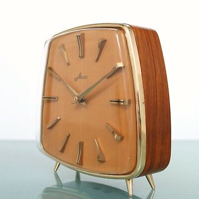 HERMLE HAID Clock RARITY 1962 Vintage 3 Bar Chime Germany HIGH GLOSS Mid Century