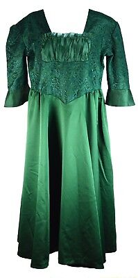 Midieval Princess Dress Size 14 XL Emerald Green Gown Renaissance Celtic Costume