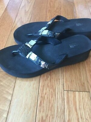 427c98629b097 CAPELLI NEW YORK Womens Flip Flop Sandals Silver Anchors Nautical ...