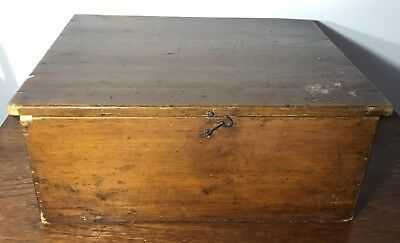 Vintage Wooden Small Trunk, Storage Box, Candle Box.
