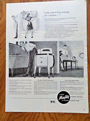 1945 Maytag Washer Ad Lady You've been Wishing for a Washer