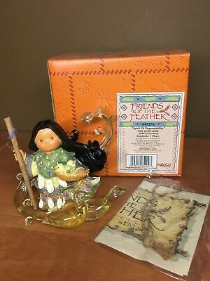 "Enesco Friends Of the Feather ""Spirit Of Dependability"" Girl w/ Geese Figurine"