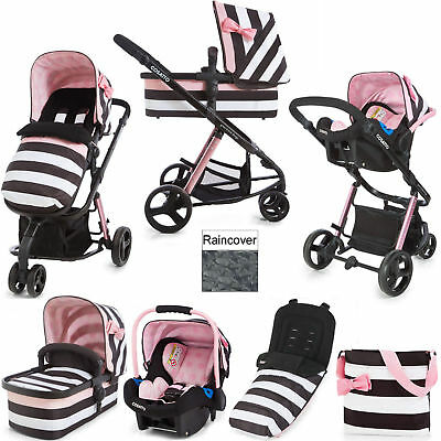 Cosatto giggle 2 3 in 1 travel system Golightly 3 with car seat bag & footmuff