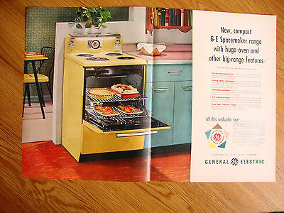 1955 Kitchen GE General Electric Spacemaker Range Ad