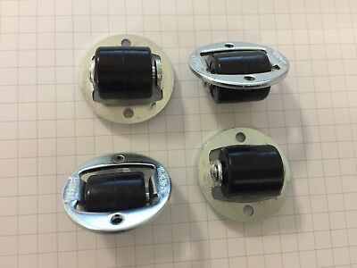 Pack of 4pcs - 14mm Small Fixed castors - Low level micro caster wheels20