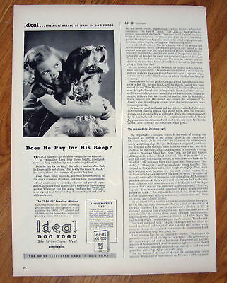 1944 Ideal Dog Food Ad  Brittany Spaniel Dog