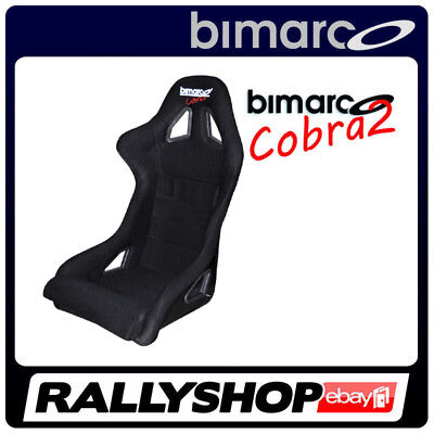 Racing Seat BIMARCO COBRA II BLACK VELOUR 3 inch Harness slots