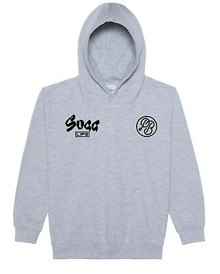 Sugg Life Kids Cool Youtubers Hoodie Sugg Life Right Breast PB Left Breast