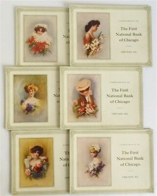 Lot of 6 Zula Kenyon Edwardian Ladies Unusual Oversize Advertising Blotters 1909