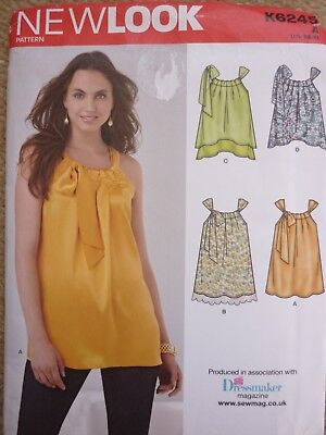 New Look 6245 Ladies Tops Sewing Dressmaking Pattern