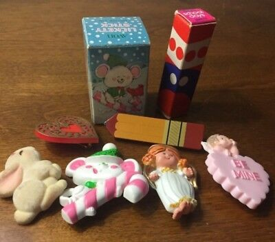 Hallmark Avon & Other Holiday Adorable Pins Mouse Bunnies Angel Heart Pencil
