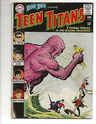 DC Silver Age Brave Bold 60 Teen Titans 1965 2nd app 1st Wonder Girl Good Copy