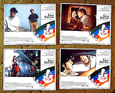 """set 8 MINT lobby cards  /  """"FOUR FRIENDS"""" -- ANYTHING WENT  in the turbulent 60s"""