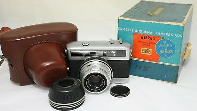 Werra 3 Deluxe with Carl Zeiss Jena 2.8/50 lens case boxed