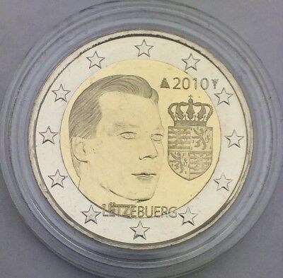 Pièce 2 euros 2010 Luxembourg sous capsule