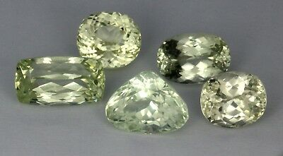 77.64 Cts 5 Pieces Natural Mixed Cut Afghanistan Yellowish Grreen Kunzite Lot