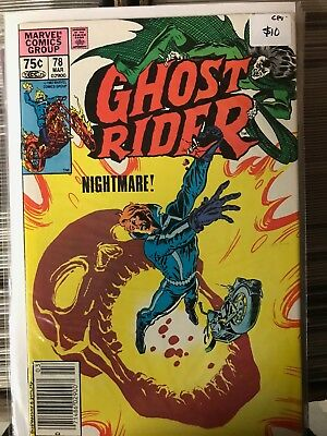 GHOST RIDER #78 VF/NM 1st Print CANADIAN PRICE VARIANT Newsstand