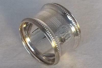 A Superb Solid Sterling Silver Round Napkin Ring Birmingham 1925.
