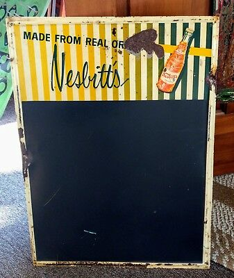 RARE 1950s NESBITT'S ORANGE SODA MENUBOARD SIGN....L@@K!