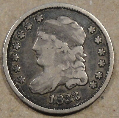 1833 Capped Bust Half Dime  Pleasing Mid Grade Coin